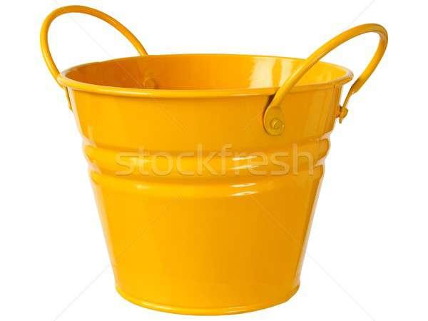 Laranja balde branco metal isolado Foto stock © ajt