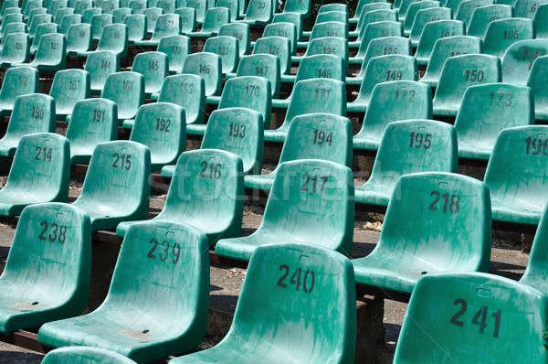 Verde estádio números Foto stock © ajt