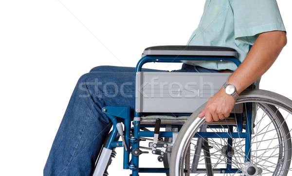 Cadeira de rodas homem sessão saúde roda doente Foto stock © ajt