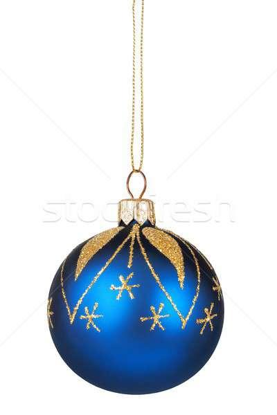Photo stock: Arbre · de · noël · décoration · isolé · Noël · babiole · blanche