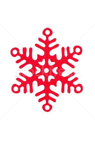 Christmas snowflake on white Stock photo © ajt