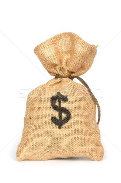 Photo stock: Argent · sac · isolé · banque · or · note