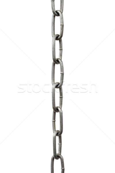Acciaio catena impiccagione isolato bianco metal Foto d'archivio © ajt