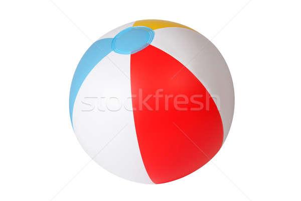 Ballon de plage gonflable isolé blanche plage jeu Photo stock © ajt
