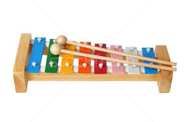 木琴 白 虹 音楽 子 おもちゃ ストックフォト © ajt