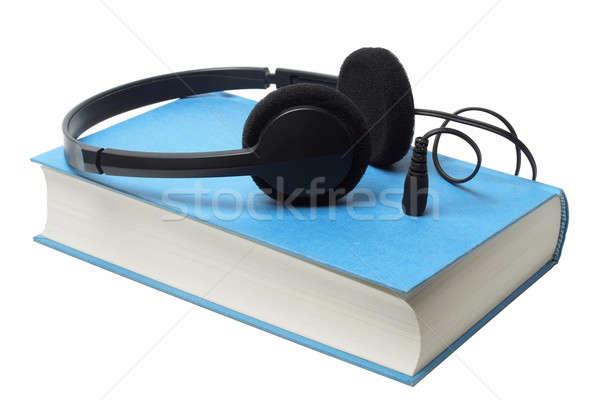 Headphones on audiobook Stock photo © ajt