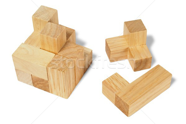Wooden puzzle Stock photo © ajt
