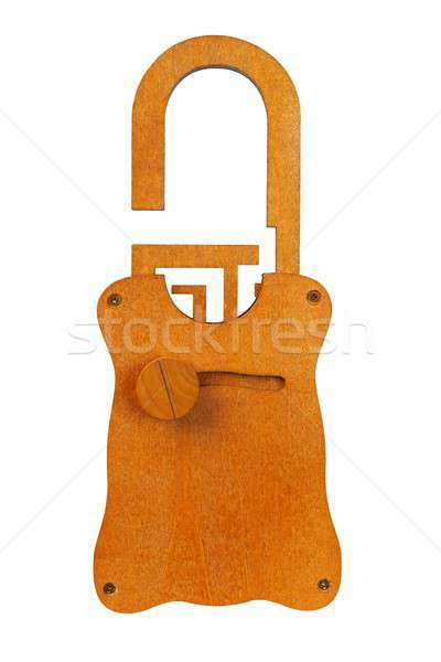 Wooden padlock puzzle Stock photo © ajt