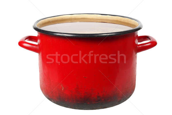 Old red pot Stock photo © ajt