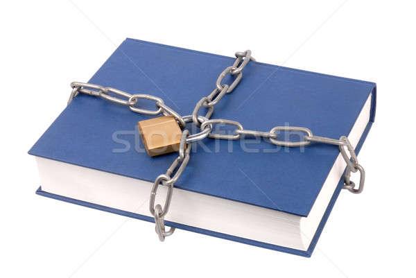 Livre livres cadenas chaînes isolé blanche Photo stock © ajt