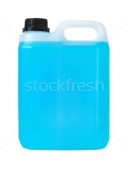 プラスチック することができます 青 液体 孤立した 白 ストックフォト © ajt
