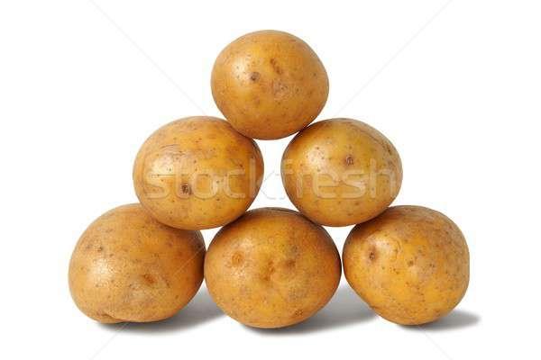 Tas pommes de terre isolé blanche groupe légumes Photo stock © ajt