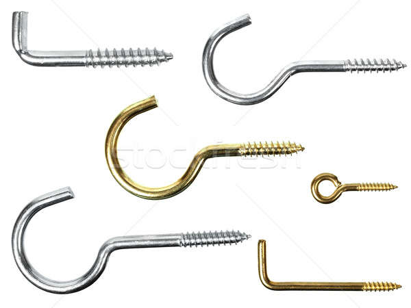 Hooks on white Stock photo © ajt
