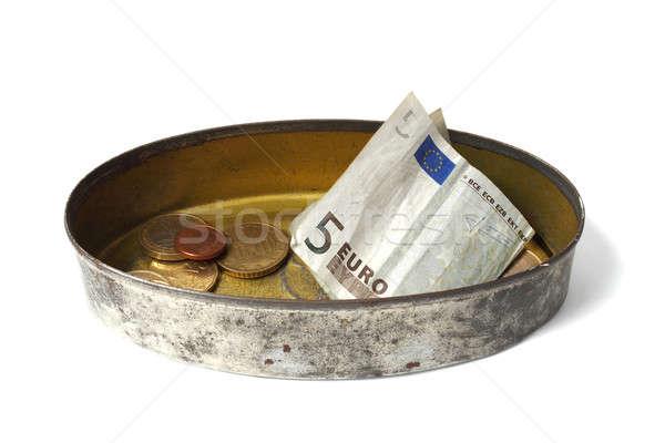 étain peuvent argent isolé blanche aider Photo stock © ajt