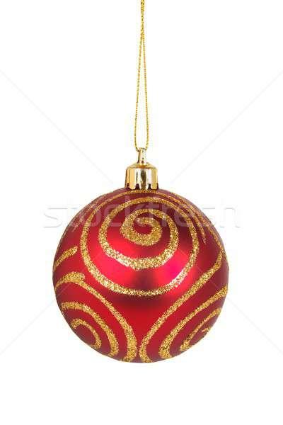 Noel önemsiz şey beyaz yalıtılmış ağaç mavi Stok fotoğraf © ajt