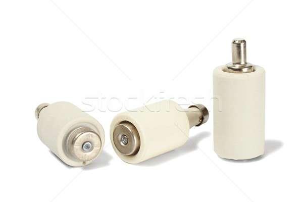 Stock fotó: Elektromos · fehér · három · elektomos · biztonság · védelem
