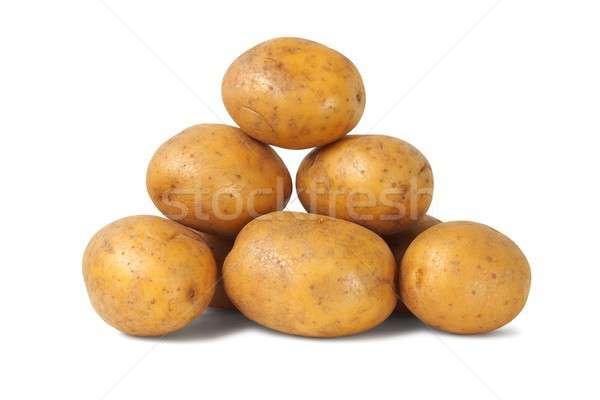 Tas pommes de terre isolé blanche légumes légumes Photo stock © ajt