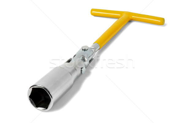 Kıvılcım fiş İngiliz anahtarı beyaz Stok fotoğraf © ajt
