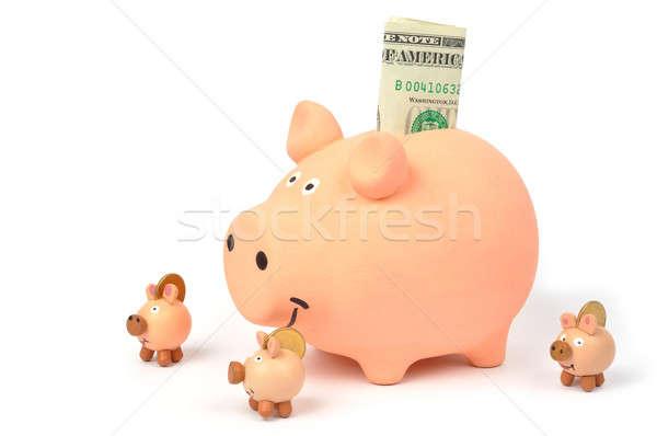 Family of Piggy Banks Stock photo © ajt