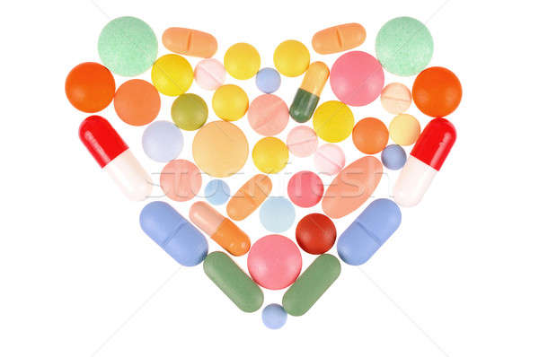 Pills Heart Stock photo © ajt