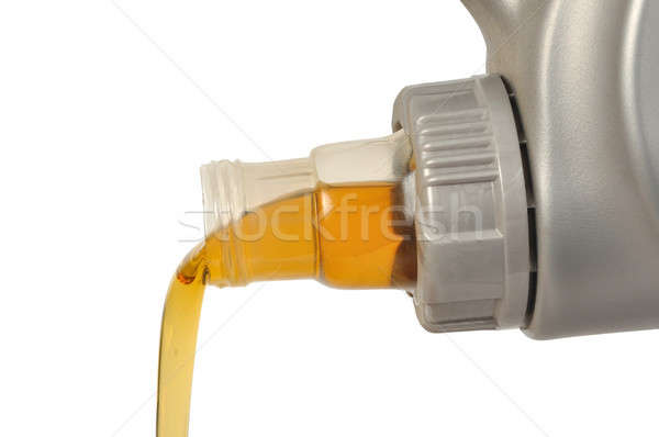 Carro Óleo lata motor isolado branco Foto stock © ajt