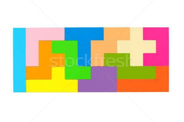 Pentomino puzzle on white Stock photo © ajt