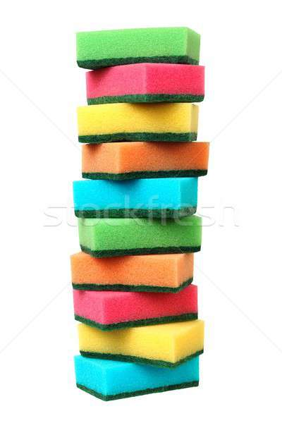 Dish sponges on white Stock photo © ajt