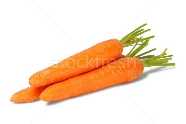 Three fresh carrots Stock photo © ajt