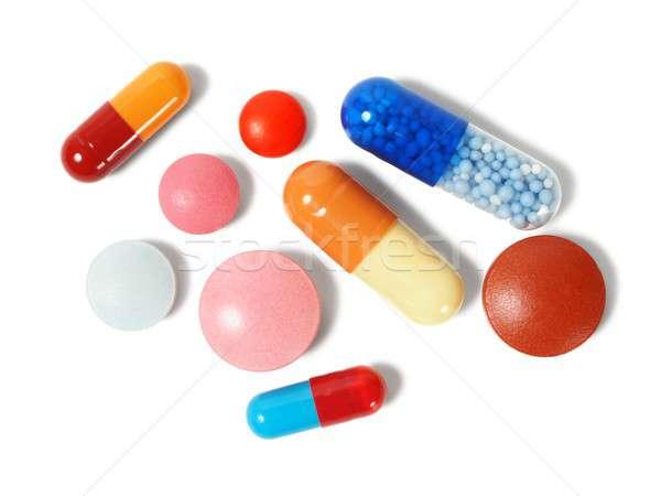 Pills on white Stock photo © ajt