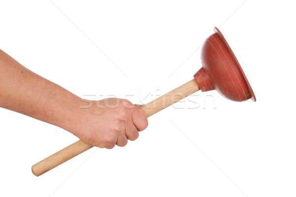Hand with Plunger Stock photo © ajt