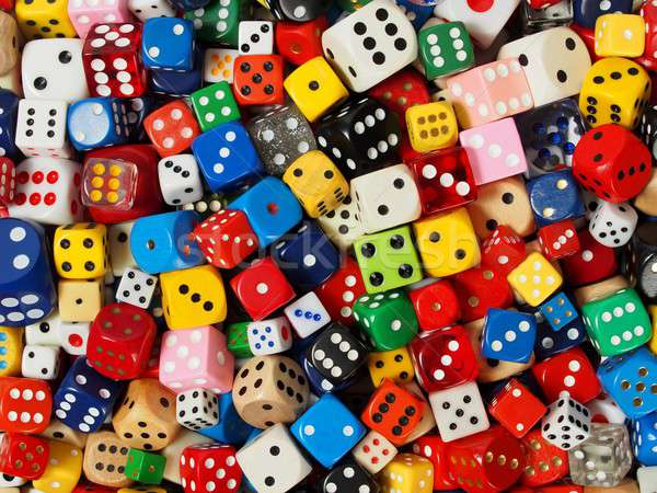 Cube dice collection Stock photo © ajt