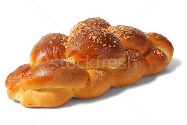 Challah bun on white Stock photo © ajt