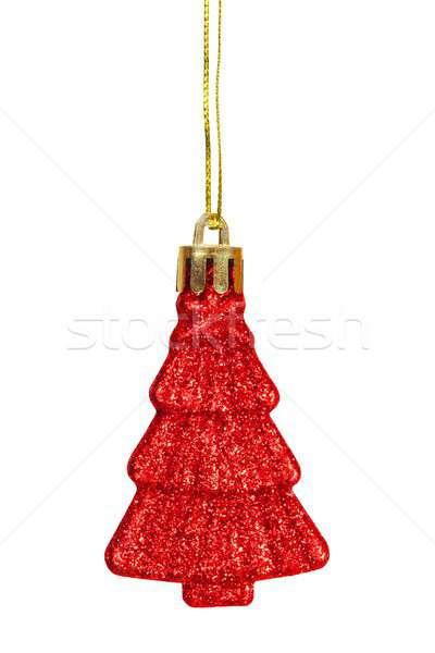 Weihnachten Spielerei weiß isoliert rot Stock foto © ajt