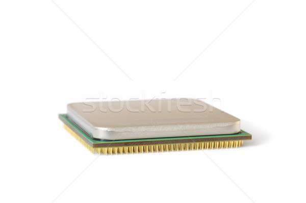 Cpu isolato computer dati elettronica chip Foto d'archivio © ajt