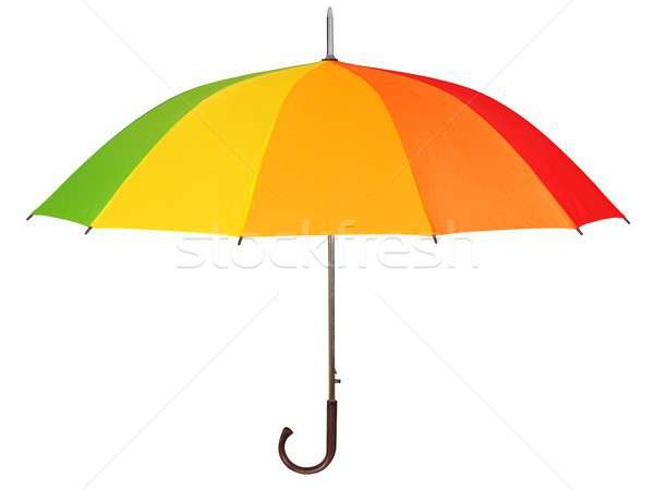 虹 傘 白 孤立した 色 ストックフォト © ajt