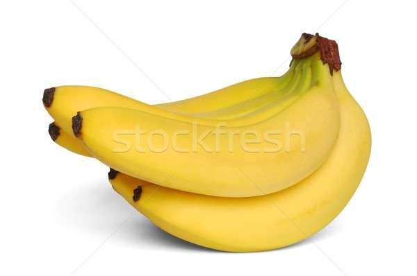 Bananen geïsoleerd vruchten banaan dieet gezonde Stockfoto © ajt