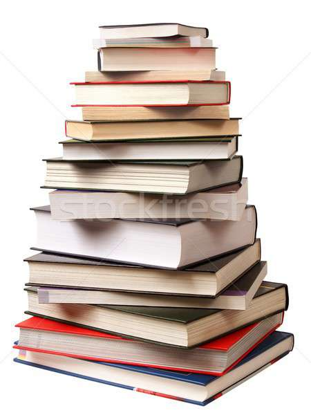 ピラミッド 図書 スタック 孤立した 白 図書 ストックフォト © ajt