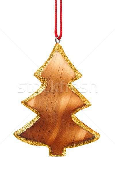 Bois Noël décoration isolé blanche Photo stock © ajt