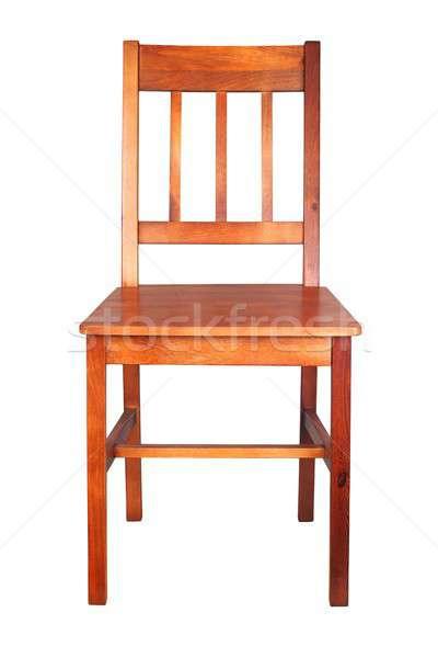 Houten stoel witte geïsoleerd stoel meubels interieur Stockfoto © ajt