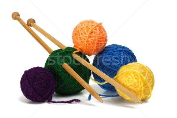 Knitting wool and needles Stock photo © ajt