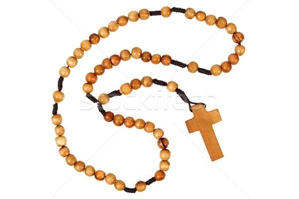 Rosário isolado branco oração Foto stock © ajt