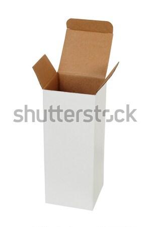 Tall box on white Stock photo © ajt