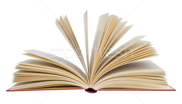 Książki odizolowany otwarta księga książek studia przeczytać Zdjęcia stock © ajt