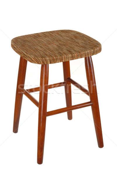 Zsámoly öreg izolált fehér szék Stock fotó © ajt