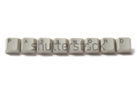 Computer wachtwoord sleutels uit woord Stockfoto © ajt