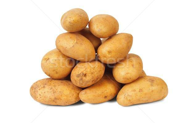 Heap Kartoffeln isoliert weiß Essen irish Stock foto © ajt