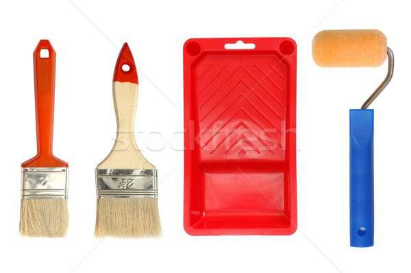 Festmény kellékek izolált szerszámok ecset Stock fotó © ajt