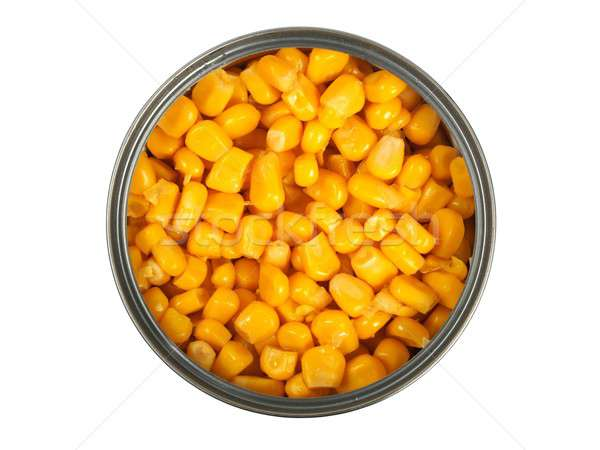 Canned corn on white Stock photo © ajt