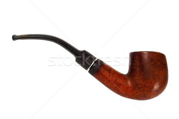 Old pipe on white Stock photo © ajt