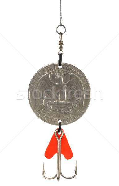 Dollar coin as bait Stock photo © ajt